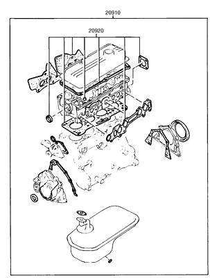 Hyundai 20920-2BK00 Engine Cylinder Head Gasket Set