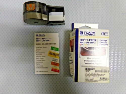 """20XW76 Polyester Label Brady M21-250-430-WT-CL HH White 0.25/"""" W x 21/' L"""