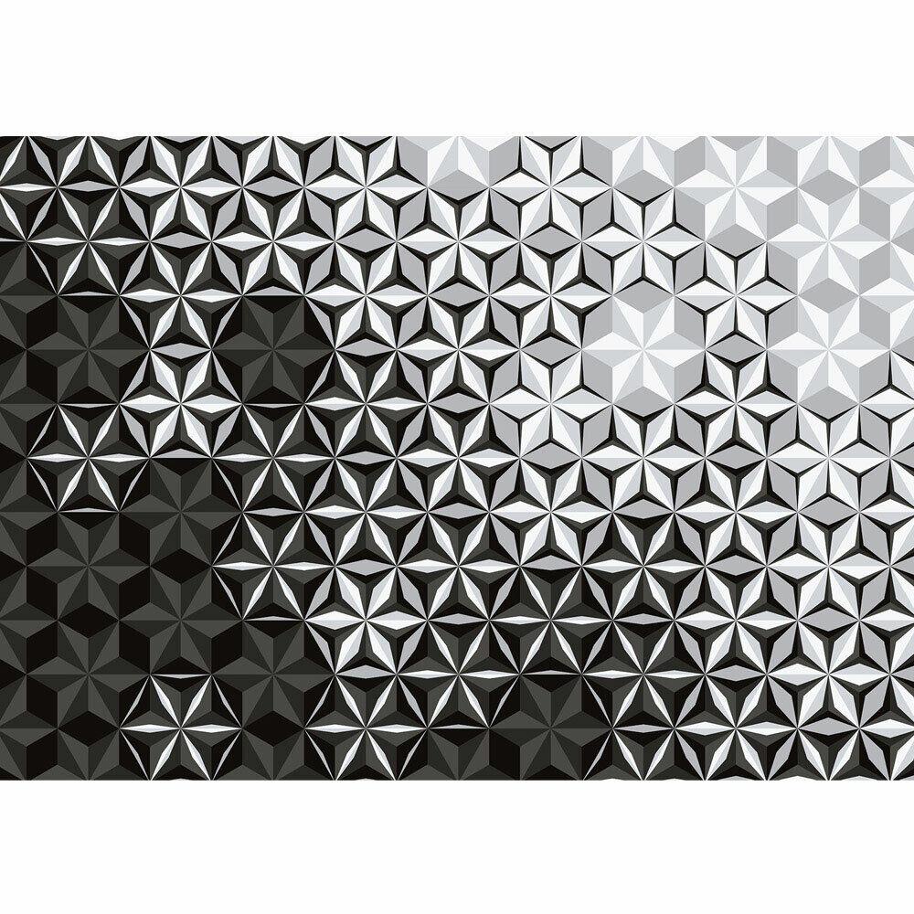 Fototapete Abstraktion Mosaik bluemen Kaleidoskop Stern liwwing no. 4306