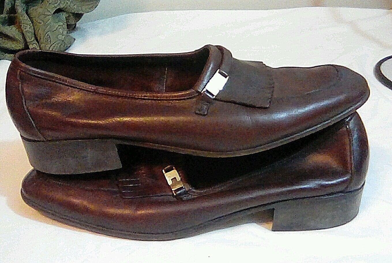 Bally of Switzerland Loafers Alengo braun Mens Supple Leather Loafers Switzerland 8 M Free Shipping 6fd647