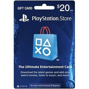Sony PlayStation Network Card Store PSN 20