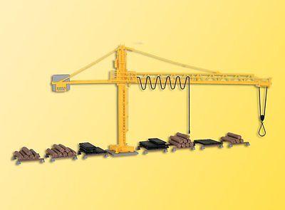 KIBRI HO SCALE KIT - TIMBER YARD  CRANE - plastic model # 39817