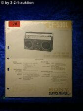 Sony Service Manual CF 530L Cassette Recorder (#0078)
