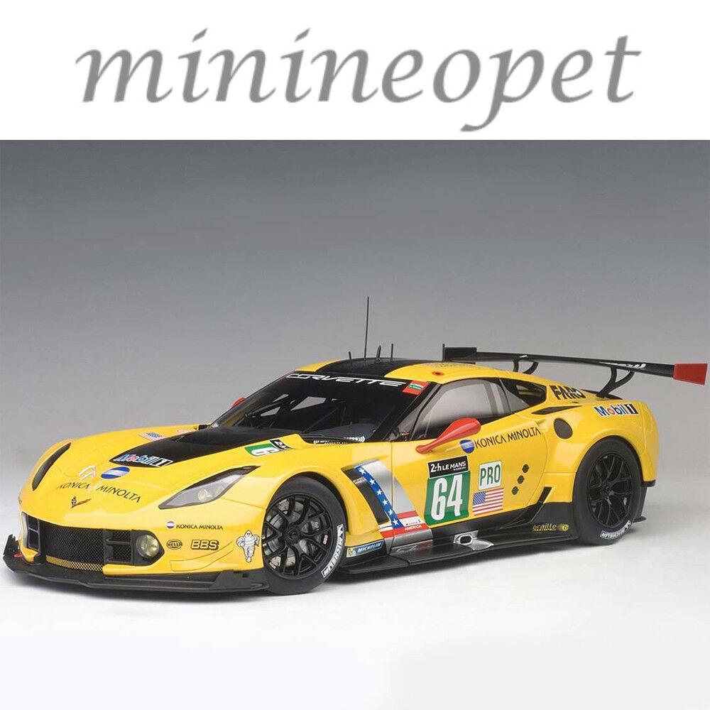 AUTOART 81604 Chevrolet Corvette C7.R Le Mans 24 hrs 2016  64 1 18 jaune