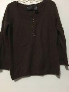 Hair Lambs Axcess Brown Sp Women Claiborne Wool Liz Size Rabbit Sweater Angora pxqnI7Xwfq
