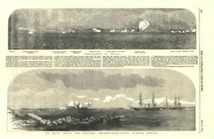 Odessa-Bombardment-HMS-Hecla-amp-Leopard-reconnoitring-Hango-harbour-Finland-1854