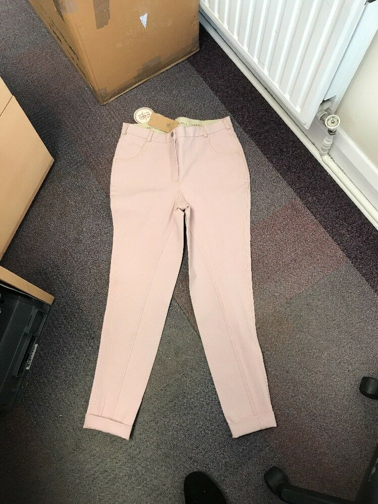 Harry Hall Samantha Ladies Girls Pink Jodhpurs Size 30 - Breeches RRP  NEW
