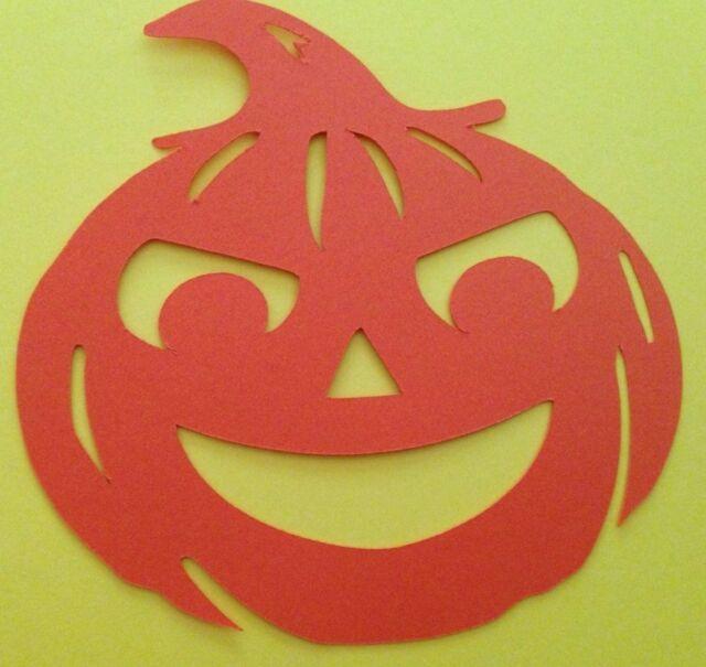 Halloween Jack O Lantern Pumpin Cricut Die Cut Orange Handmade With Cardstock