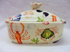Seashore design butterdish by Heron Cross Pottery