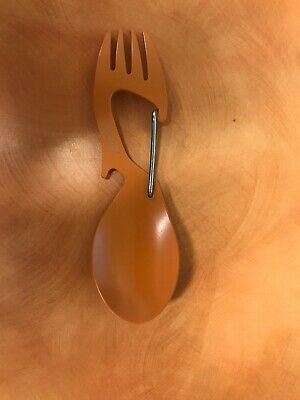Kershaw 1140 Fork Spoon Bottle Opener~ Camp Survival Carabiner Tool~FAST SHIP