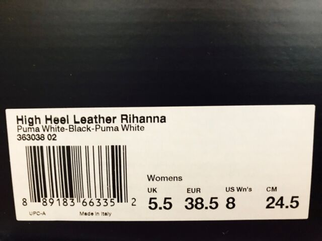 95199be9f48 PUMA Fenty by Rihanna High Heel Leather Shoes Women s Size US 8 ...