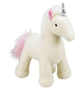 """10"""" Peluche Tricot Unicorn Soft Animal En Peluche Peluche Jouet-afficher Le Titre D'origine Pour RéDuire Le Poids Corporel Et Prolonger La Vie"""