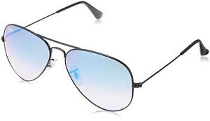 f9877d34b6 Authentic Ray-Ban RB3025 002 4O 58mm Aviator Black   Blue Gradient ...