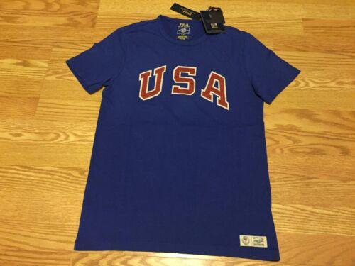 Polo Ralph Lauren USA American flag Rio Olympics big pony t shirt 2016 1967 16