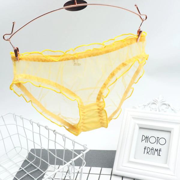# Sexy Transparente Slip Unterwäsche S-L Mesh Tüll Rüschen Spitze G-String Tanga