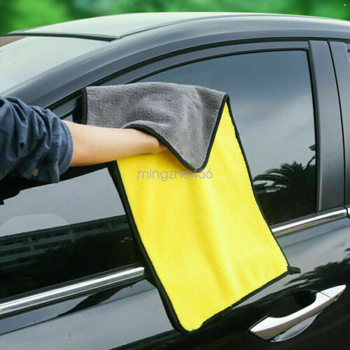 Hot Absorbent Microfiber Towel Car Home Kitchen Coral Velvet Washing Clean Cloth