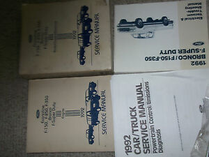 1992-Ford-F-150-F-250-F250-350-Bronco-Camion-Servicio-Tienda-Reparar-Manual-Set