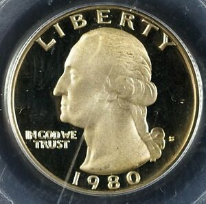 Details about 1980-S Washington Quarter PR69DCAM PCGS Gorgeous Golden Toned  Deep Cameo Proof
