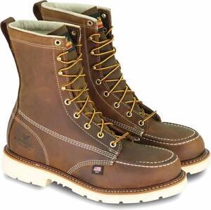 """Thorogood 8"""" Crazyhorse Moc Toe MAXWear 90 Safety Steel Toe Work Boots 804-4378"""