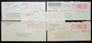 Postal-History-Set-of-5-US-Stamps-Covers-North-American-Co-Adv-USA-Brief-H-7204