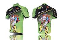 Men's Cycling Clothing Tops Short Sleeve Bicycle Jerseys T-shirt Green Rabbit