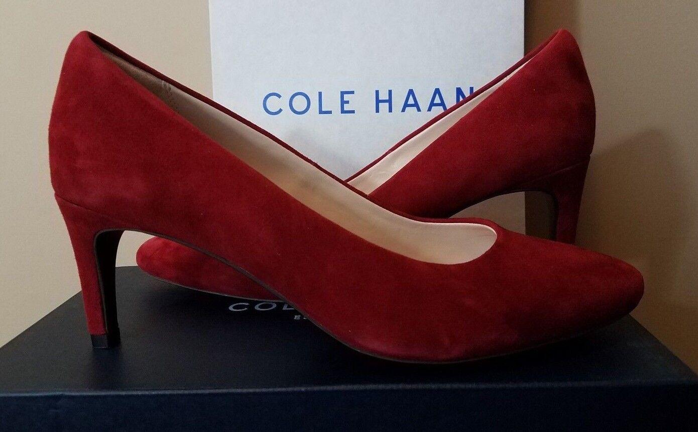 Damenschuhe Cole Haan Helen II Grand Pump 65 MM II Helen Sun Dried Tomato S Größes 8.5,9 Suede 5331f8