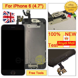 the best attitude 9155f 999f0 Details about For iPhone 6 Black LCD Touch Screen Replacement Digitizer  Camera Home Button
