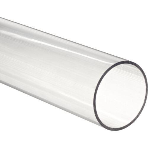 """48/"""" Polycarbonate Round Tube Clear Nominal 1//4/"""" ID x 3//8/"""" OD x 1//16/"""" Wall x5"""