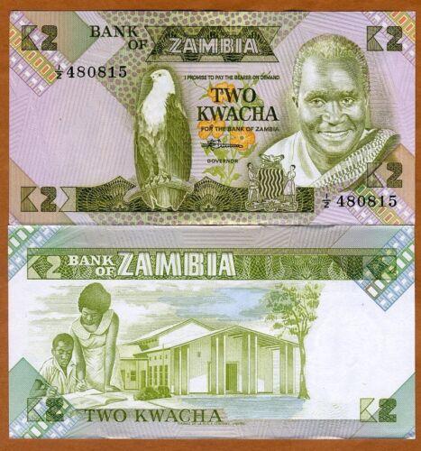 P-24 24c Zambia 1980-1988 2 Kwacha Sign ND 7 aUNC /> 1//Z REPLACEMENT