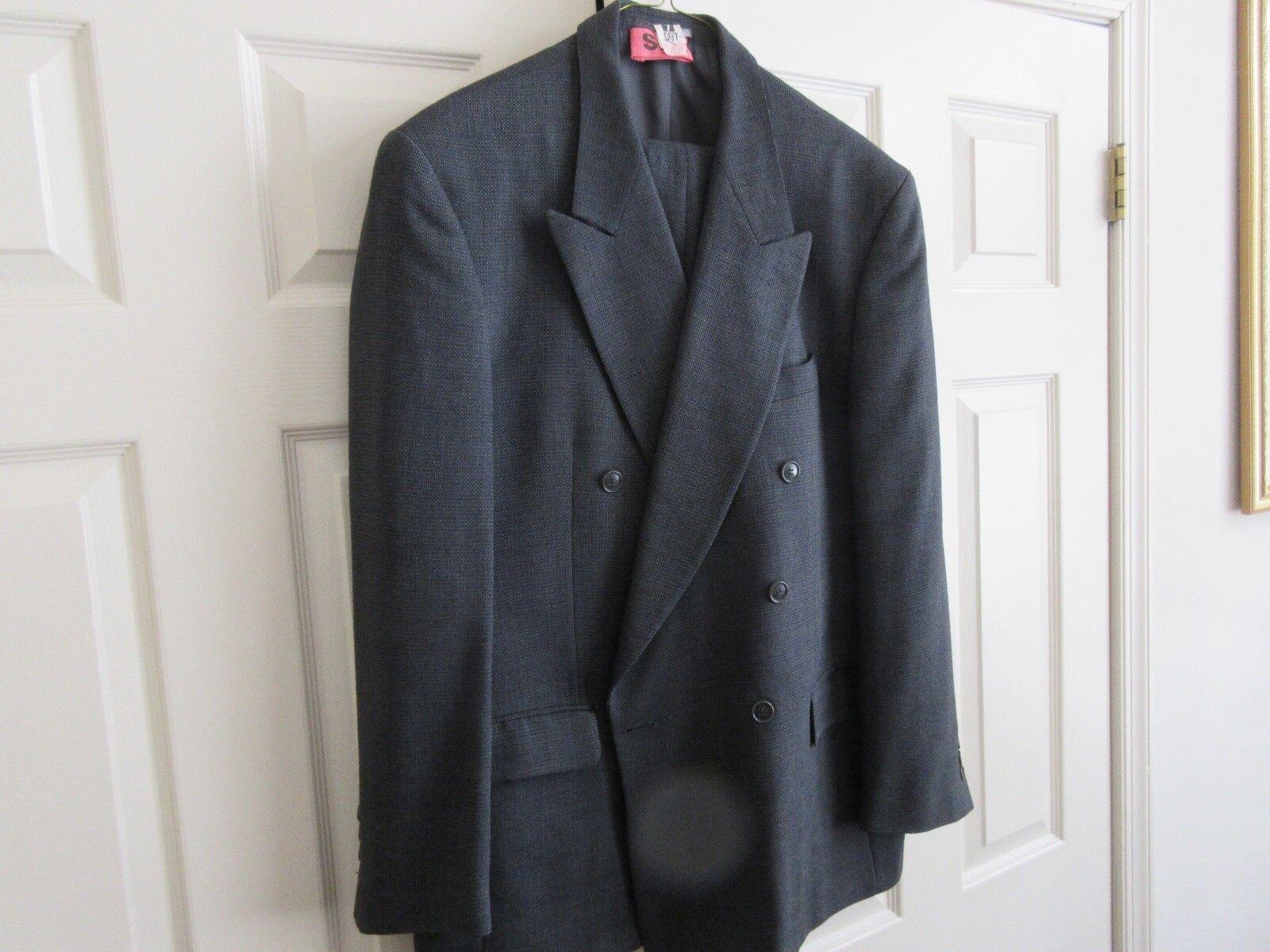 Men's Dress Suit , Vintage , Double Breasted , Jean Baptiste Caumont , Unique