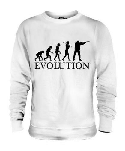 CLAY PIGEON SHOOTING EVOLUTION OF MAN UNISEX SWEATER  Herren Damenschuhe LADIES GIFT