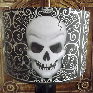 Gothic skull lamp shadelampshade halloween black and white free image is loading gothic skull lamp shade lampshade halloween black and aloadofball Image collections
