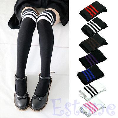 Women Sexy Fashion Stripe Cotton Over Knee Socks Thigh High Stockings Long Socks