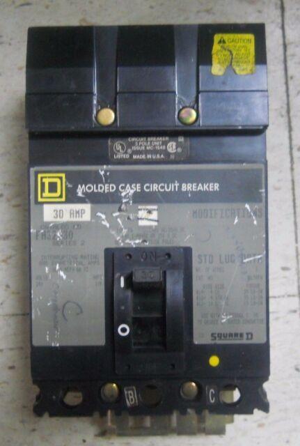 +NEW IN BOX SQUARE D 30A I-LINE CIRCUIT BREAKER FA32030  3 POLE  240V 30 AMP
