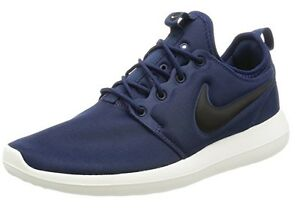 new product d8e4a e66d9 Image is loading NEW-MEN-NIKE-ROSHE-TWO-MIDNIGHT-NAVY-BLACK-