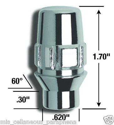 Gorilla Automotive 68681N E-T//Ultra Wheel Locks 1//2-Inch Thread Size
