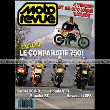 MOTO REVUE N°2786 KLR 650 KAWASAKI GPX 750 SUZUKI GSX-R HONDA VFR YAMAHA FZ 1987