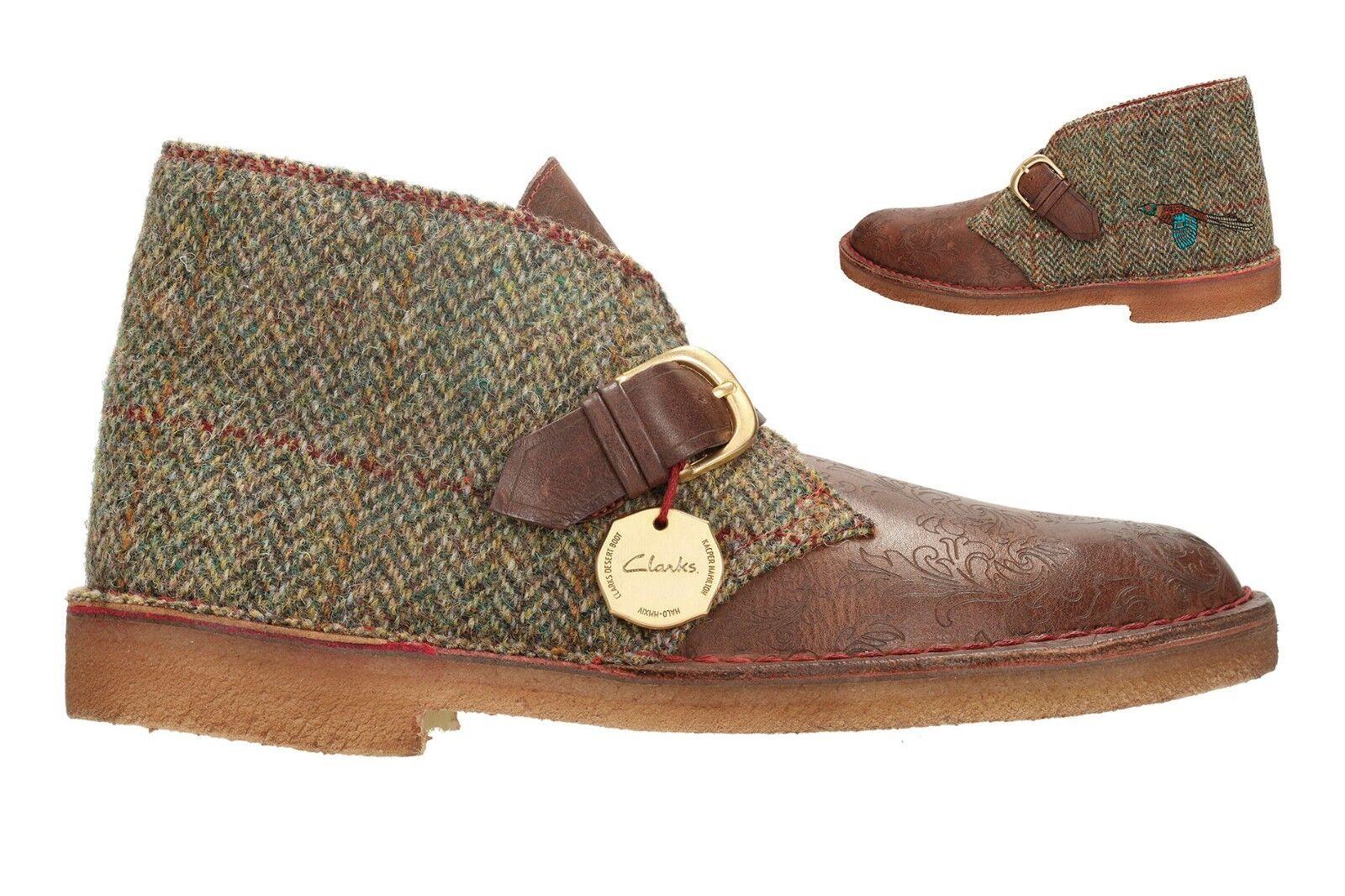 Clarks Original Men  Combi Desert Gent Braun Tweed Combi   65 Years UK 9,10,11 G ca8b8f