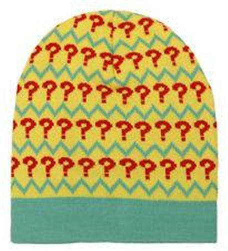 7th Doctor Who Official BBC Licensed ? Question Mark Pattern Beanie Winter HAT