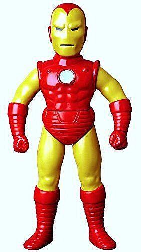 MEDICOM TOY_Marvel Comics Retro Sofubi Collection IRON MAN 10   Vinyl figure_MIB