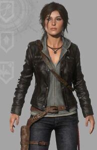 Lara in Tomb Croft Raider pelle The Of Giacca Rise qwR0Xf
