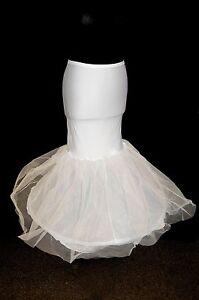 Wedding-Bridal-Hoop-White-Tulle-Fishtail-NEW