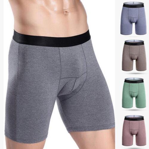 Men 100/% Cotton Brief Boxer Shorts Trunks Long Legged Underwear Underpants Pants