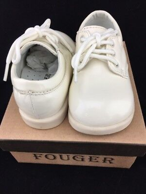 FOUGER Toddler Infant Boy Ivory Dress Shoes Baptism Christen  2 3 4 5 6 7 8 9