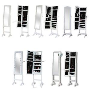 Détails Sur Westwood Debout Miroir U2013 Armoire Maquillage Boîte à Bijoux  Armoire De Rangement Verrouillable  Afficher Le Titre Du0027origine
