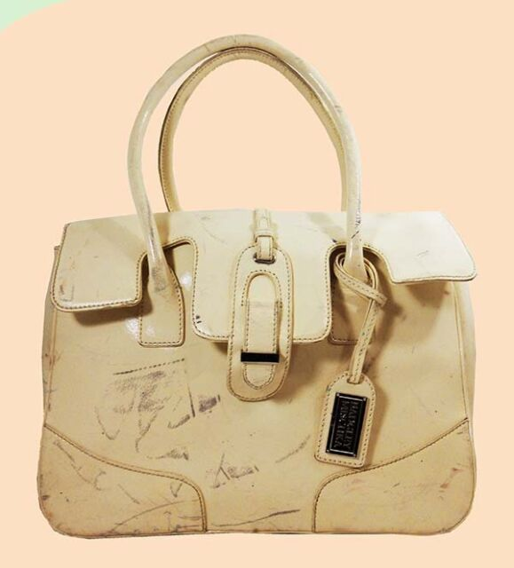 fbe7ebae4950 BADGLEY MISCHKA Vanilla Leather Satchel Shoulder Bag Msrp  598  REDUCED 90%  OFF