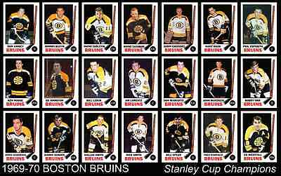 1969 1970 BOSTON BRUINS Stanley Cup Champions Team Poster ...