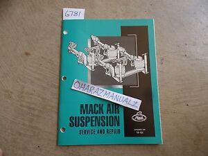 Mack air suspension