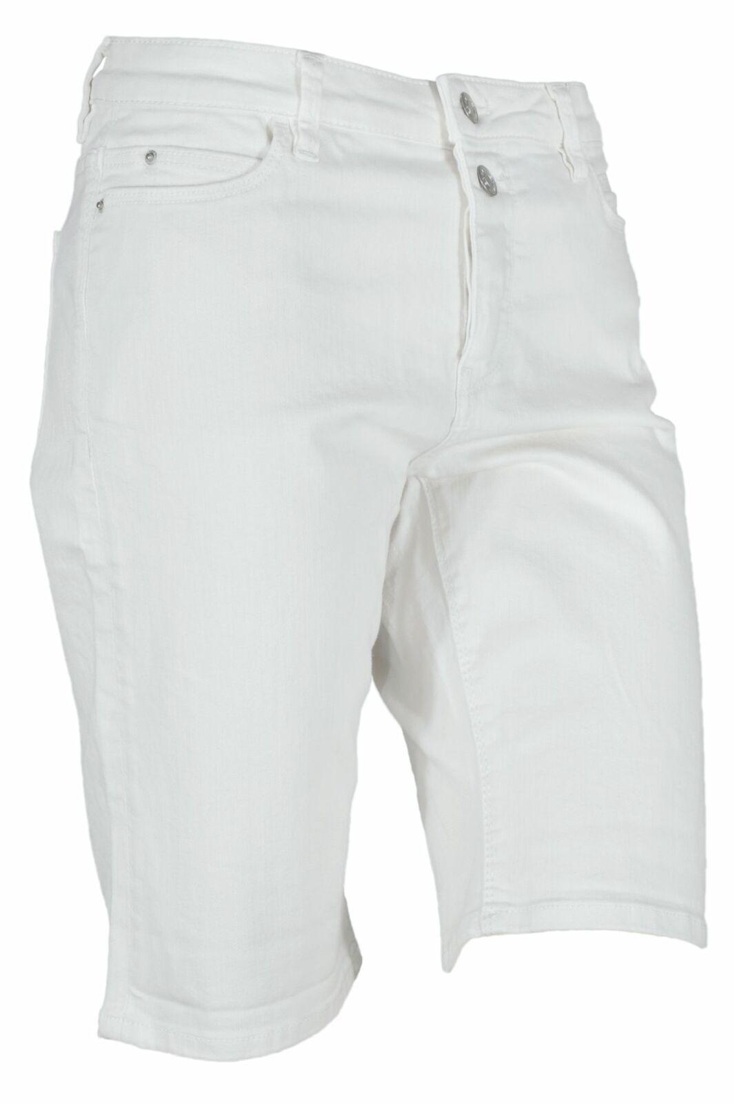 Esprit Jeansshorts Bermuda Shorts Kurze Hose Stretch Damen Weiß Regular Fit