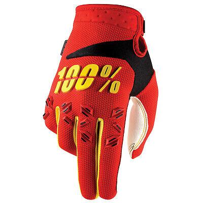 100% Airmatic Rosso Guanti Motocross - Rosso